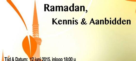 Poster Lezing Ramadan, kennis & aanbidden stichting Nang